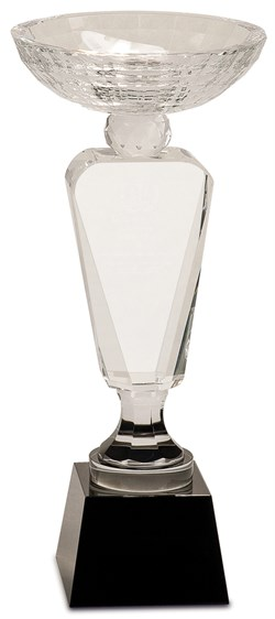 Premier Crystal Cup With Personalized Black Crystal Pedestal