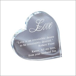Personalized Crystal Heart