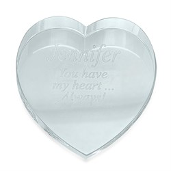 Image Personalized Crystal Heart Paperweight
