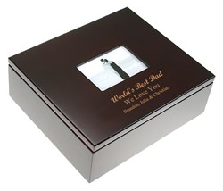 Image World's Best Dad Treasure Box with Photo Frame