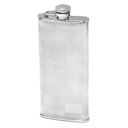 5 Ounce Slim Diamond Pattern Engraved Flask