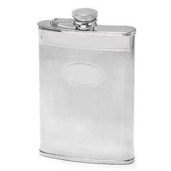8 Ounce Knit Design Engravable Flask