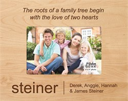 """Family Tree Personalized 4"""" x 6"""" Picture Frame"""