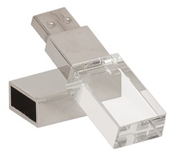 4GB Personalized Crystal USB Flash Drive With White LED Light