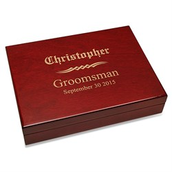 Groomsman's Gift Piano Finish 30 Cigar Humidor