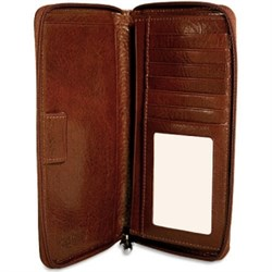 Sienna Collection Zippered Checkbook/Travel Wallet by Jack Georges