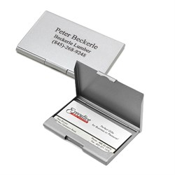 Gunmetal Finish Personalized Business Card Holder