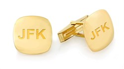 Pillow Collection 14 Karat Gold Engravable Cufflinks