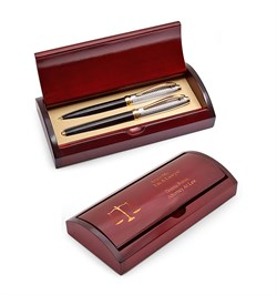 Scales of Justice Lawyer's Two Piece Pen Set