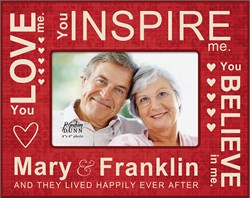 """Love Inspire Believe Personalized 4"""" x 6"""" Picture Frame"""