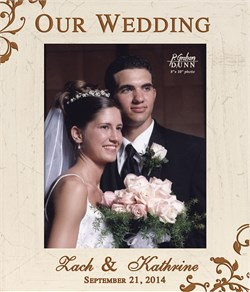 """Our Wedding Personalized 8"""" x 10"""" Picture Frame"""