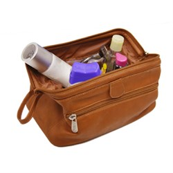Deluxe Top Frame Leather Traveling Kit
