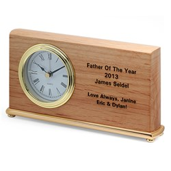 Personalized Father Of The Year Desk Clock