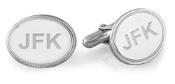 Sterling Silver Mirror Collection Engravable Cufflinks Romantic Gifts for Men