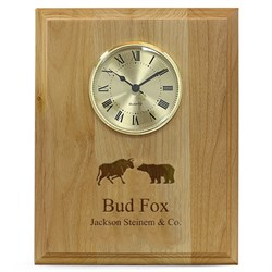 Wall Street Symbol Recognition Wall Clock