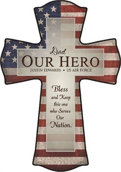Image Dad - Our Hero Personalized Cross