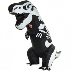 Adult Giant Skeleton T-Rex Inflatable Costume 78-0507
