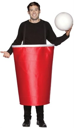 Adult Red Beer Pong Cup Costume 6029