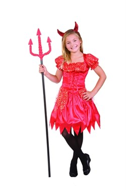 Child Glitter Devilina Costume 91285