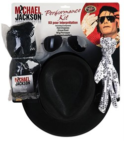 Michael Jackson Performance Kit- Wig, Glove, Hat, Accessories 5340