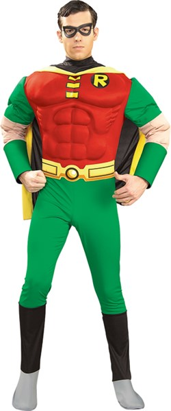 Deluxe Adult Robin Costume with Muscle Chest 88078