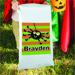 Personalized Striped Trick or Treat Sack Bag PG83096680