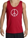 BASIC PEACE WHITE Sign Symbol Adult Tanktop - Red