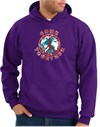 COME TOGETHER World Peace Sign Symbol Adult Pullover Hooded Sweatshirt Hoodie - Purple