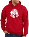 Peace Now Retro Vintage Classic Style Pullover Hooded Sweatshirt Hoodie - Red