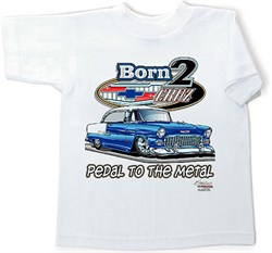 Image of 55 Chevy Kids Tee Shirt - Classic Car Youth Clothing