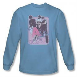 Image of 90210 Shirt A List Long Sleeve Carolina Blue Tee T-Shirt