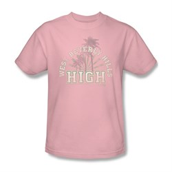 Image of 90210 Shirt Beverly Hills High Pale Pink T-Shirt