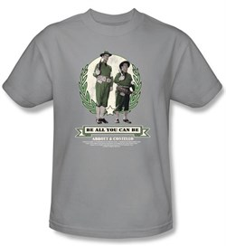 Image of Abbott & Costello Kids Shirt Be All You Can Be Youth Silver T-shirt
