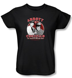Image of Abbott & Costello Ladies Shirt Funny Bad Boy Black Tee T-shirt