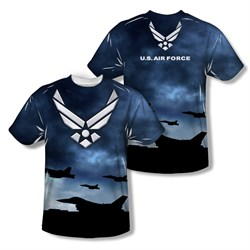 Air Force Shirt Take Off Sublimation Shirt Front/Back Print
