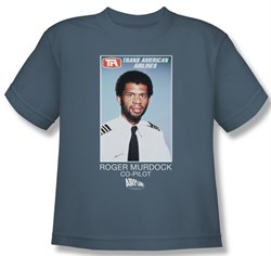 Image of Airplane Shirt Kids Roger Murdock Slate Youth Tee T-Shirt