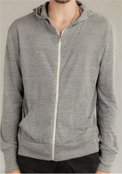 Image of Alternative Apparel Eco-Heather Zip Hoodie Sweatshirt - Eco Grey