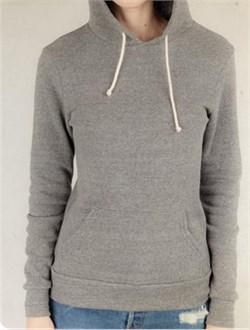 Image of Alternative Apparel Ladies Hoodie Sweatshirt Hoodlum Eco Grey Hoody