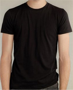 Alternative Apparel Shirt Organic Crew Mens Tee Earth Black