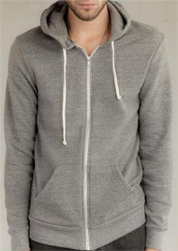 Image of Alternative Apparel Rocky Eco-Fleece Zip Hoodie - Eco Grey