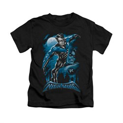 Image of All Grown Up DC Comics Shirt All Grown Up Kids Black Youth Tee T-Shirt