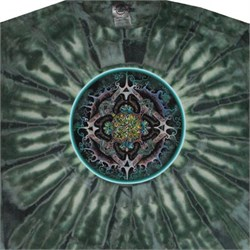 Image of Alchemical Mandala Science Adult Unisex Tie Dye T-shirt Tee Shirt