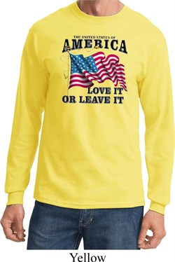 America Love It or Leave It Long Sleeve Shirt