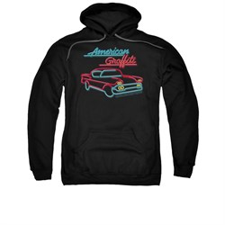 Image of American Graffiti Hoodie Sweatshirt Neon Black Adult Hoody Sweat Shirt