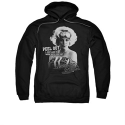 Image of American Graffiti Hoodie Sweatshirt Peel Out Black Adult Hoody Sweat Shirt