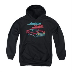 Image of American Graffiti Youth Hoodie Neon Black Kids Hoody