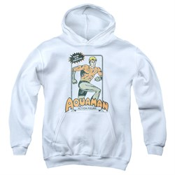 Image of Aquaman Kids Hoodie Action Figure White Youth Hoody