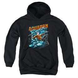 Image of Aquaman Kids Hoodie Bubbles Black Youth Hoody