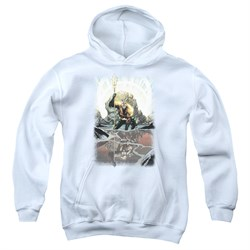 Image of Aquaman Kids Hoodie Reflection White Youth Hoody