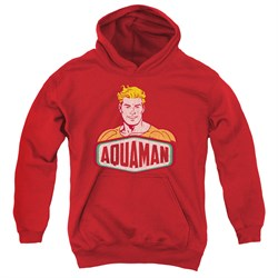 Image of Aquaman Kids Hoodie Sign Red Youth Hoody